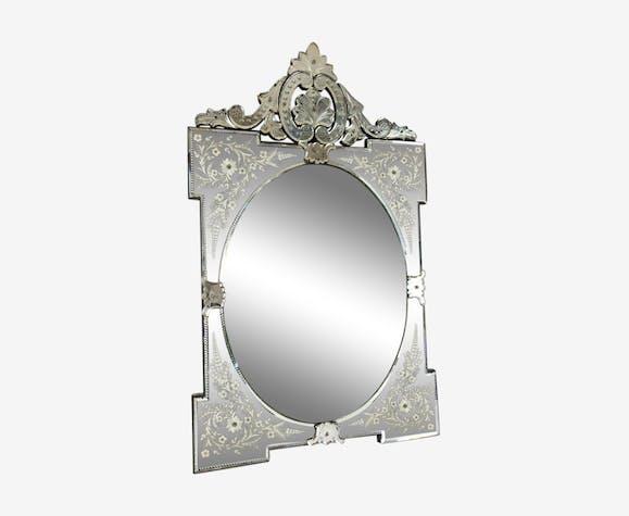 Venetian Mirror Bevel Oval Venice Ice 66x108cm Selency