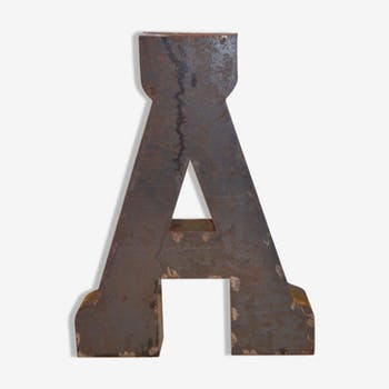 "Industrial letter ""A"" steel"