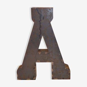 """Lettre industrielle en fer """"A"""""""