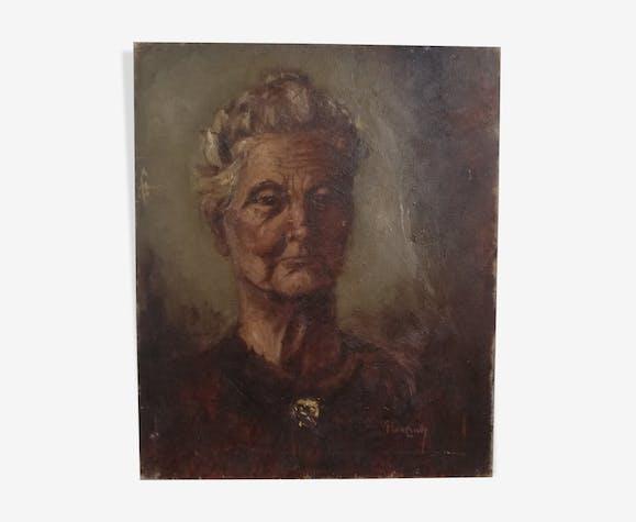 Portrait de femme âgée