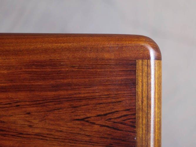 Table basse scandinave rectangle en palissandre relookée, circa 1965