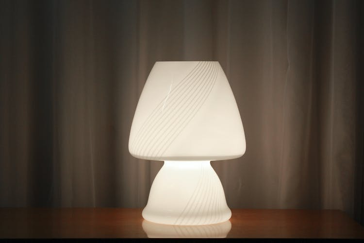 Vintage glass table lamp, 1970s
