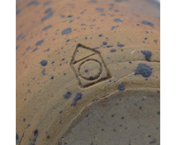 Vase bouteille en grès 70 Charles Gaudry