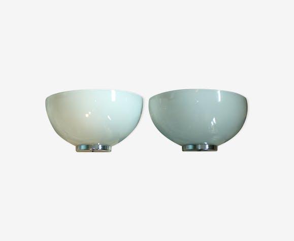 Paire appliques vasques opaline SCE