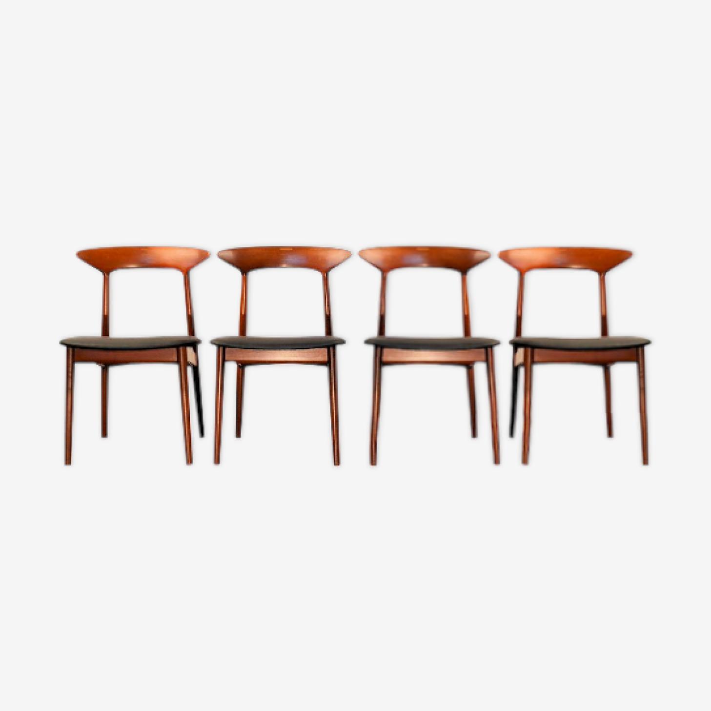 Chaises de salle à manger en teck vintage par Kurt Østervig
