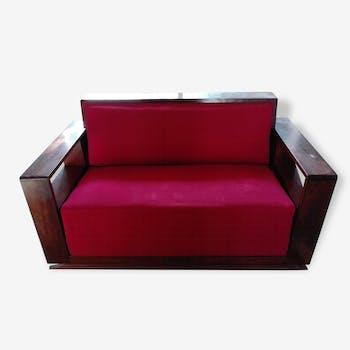 canap banquette 2 places style art d co 3 2 1 chinez. Black Bedroom Furniture Sets. Home Design Ideas