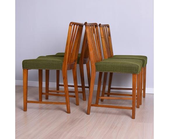 Ensemble de quatre chaises Fritz Hansen Danemark années 1940