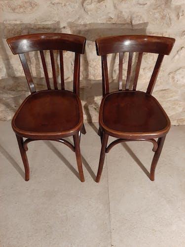 Set de 2 chaises bistrot années 40 Fischel Wissembourg