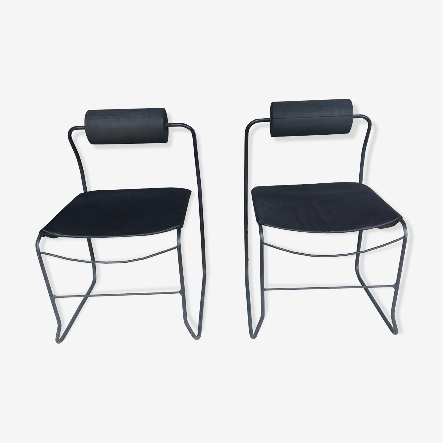 Paire de fauteuils 1980