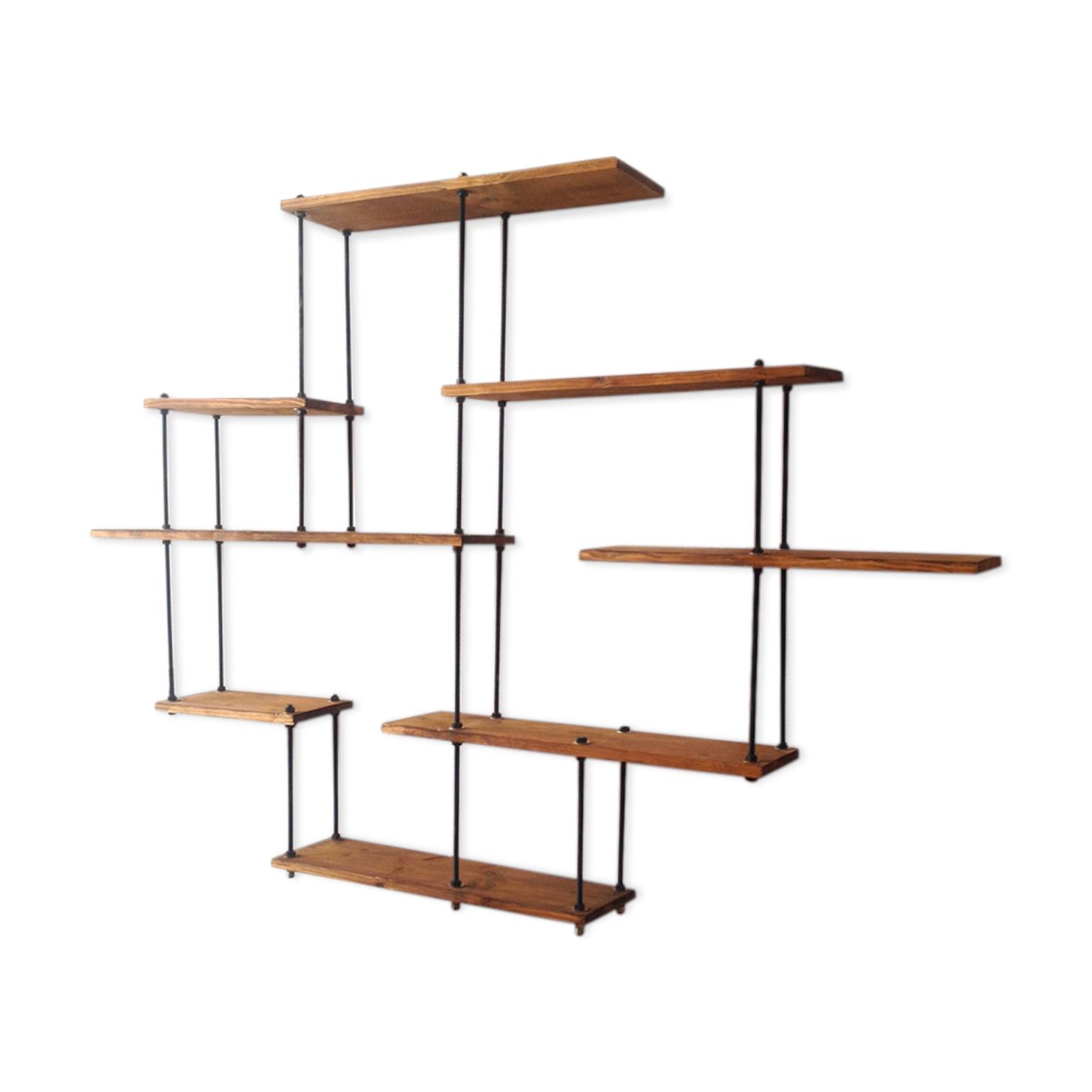 Étagère escabeau bois - alamode-furniture