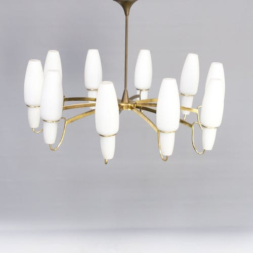 Italian chandelier in the style of the 50/60s