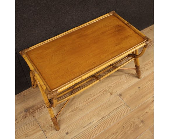 Table basse italienne en bambou
