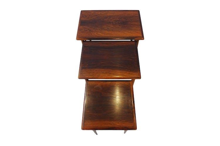 Tables gigognes en palissandre par Kai Kristiansen pour Skovmand & Andersen 1960s