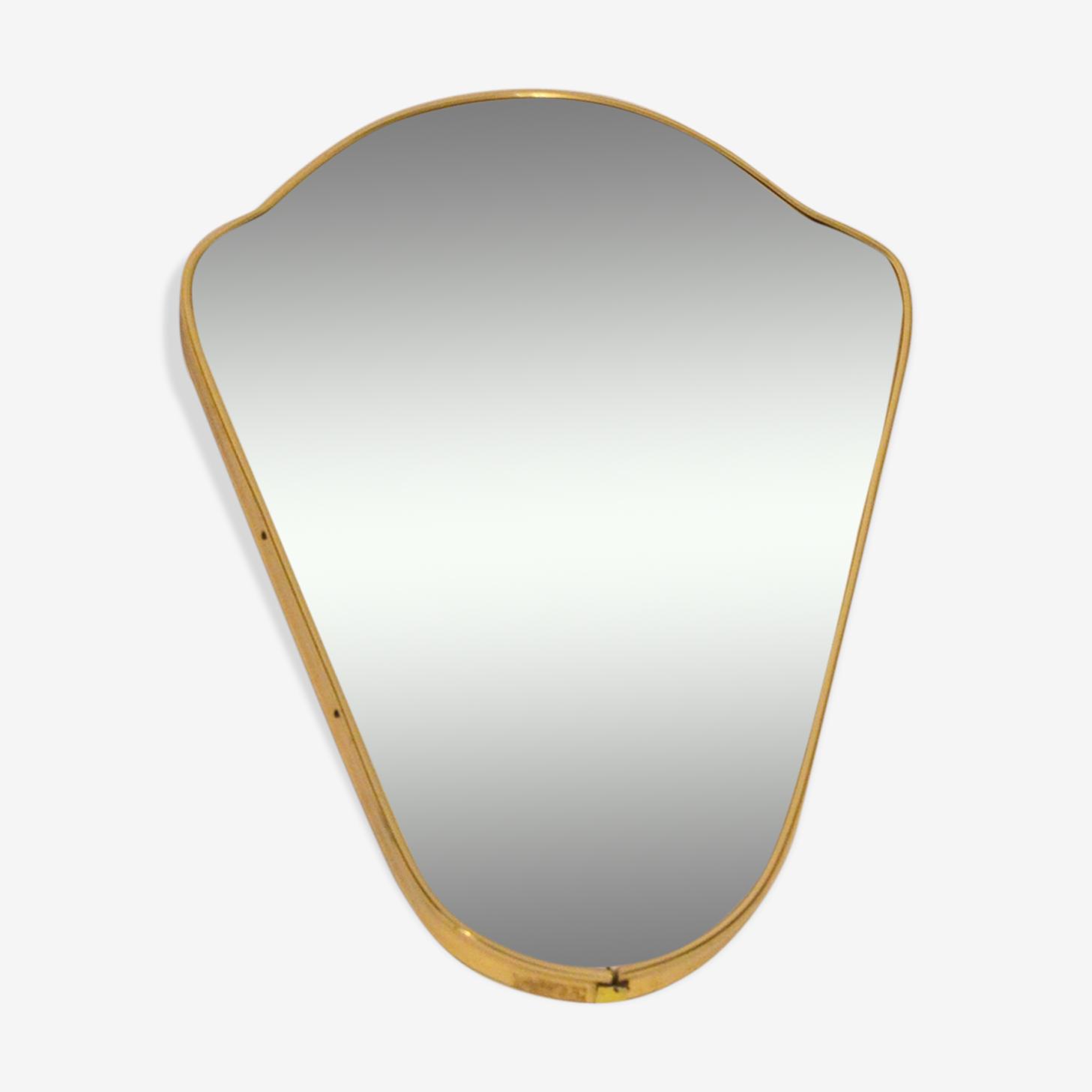 Free form mirror gold 40x26cm