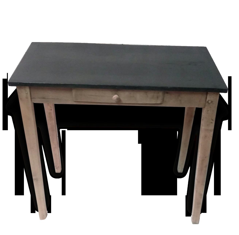 Table console petit bureau écritoire tiroir bois
