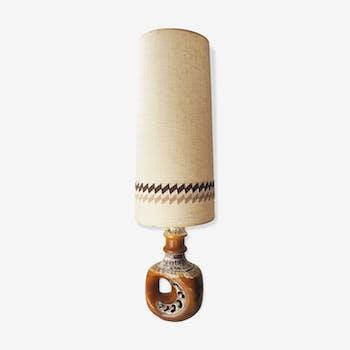Lampe de sol céramique années 60