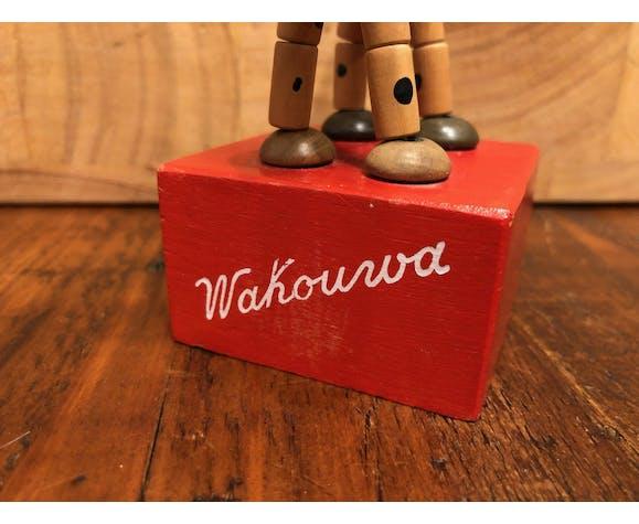 Chien en bois articulé Wakouwa années 40