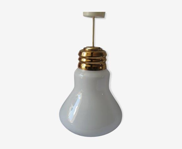 Suspension Lustre Grosse Ampoule En Verre Verre Et Cristal