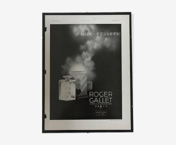 Affiche publicitaire Roger et Gallet 1930