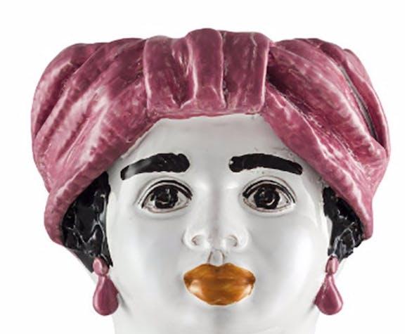 Medium-headed vase pink woman