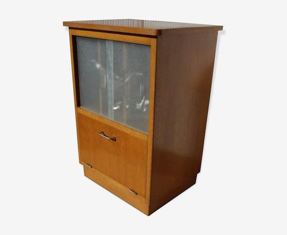 1950 showcase storage disks books vintage hifi furniture