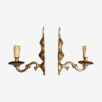 And Of Pair Crystal Golden Wall Vintage Bronze Light dxtrBQhsC