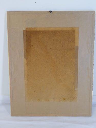 Oiseau pinson des arbres A. Marlin cadre doré
