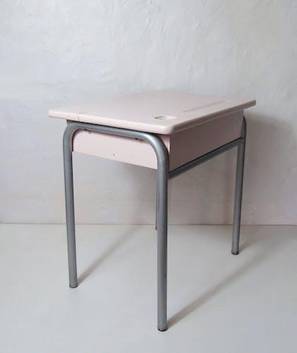 Bureau pour enfant métal bois vintage maternelle