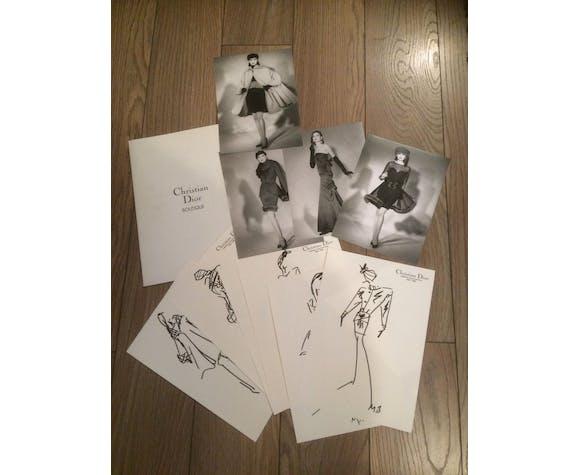 Christian Dior : llustration de mode de presse collection 187-1988