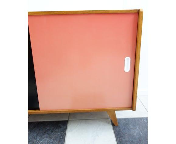 Jiri Jiroutek pink and black sideboard  Interier Praha 1960