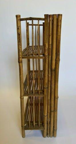 Étagère pliante en bambou 1960