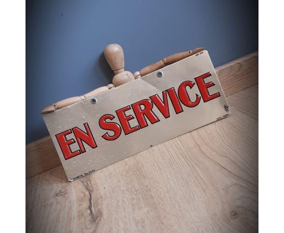 """Plaque industrielle """"en service"""""""