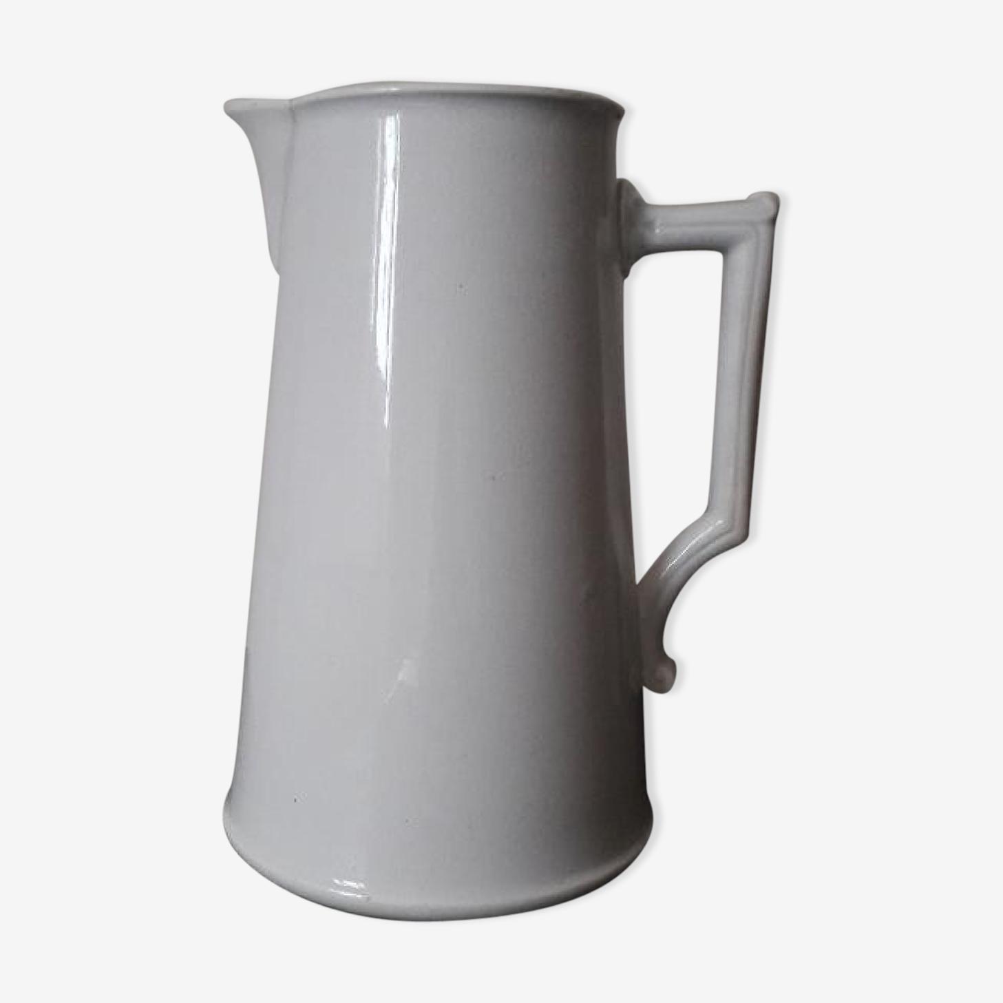 White pitcher Digoin Sarreguemines XIX