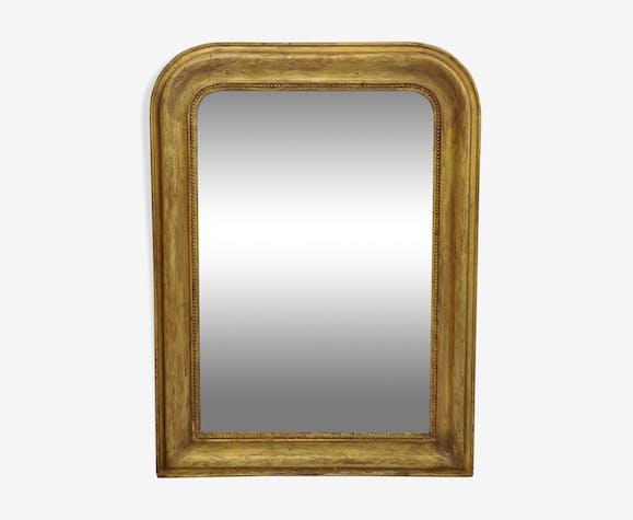 Miroir Louis Philippe doré à la feuille d'or 78x105cm