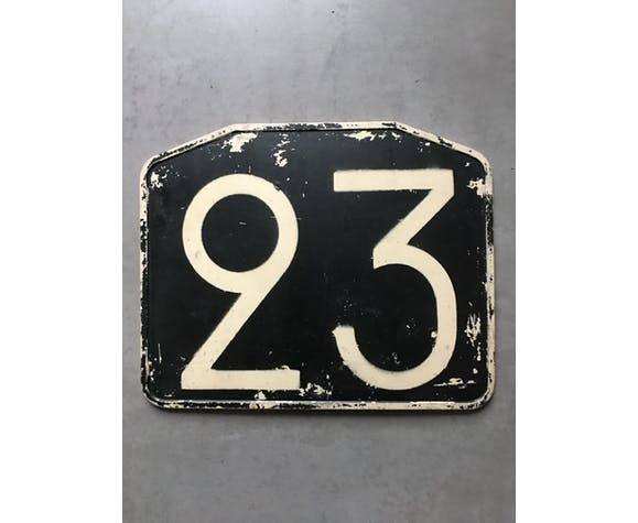 Old bus line plate 23