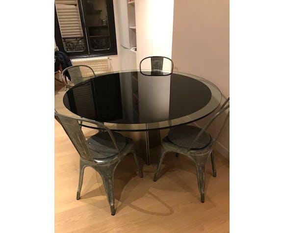 Table dining room vintage Luigi Saccardo