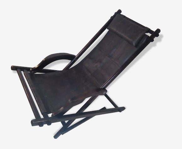 chaise longue transat vintage