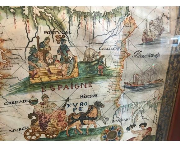 Carte maritime détroit de Gibraltar