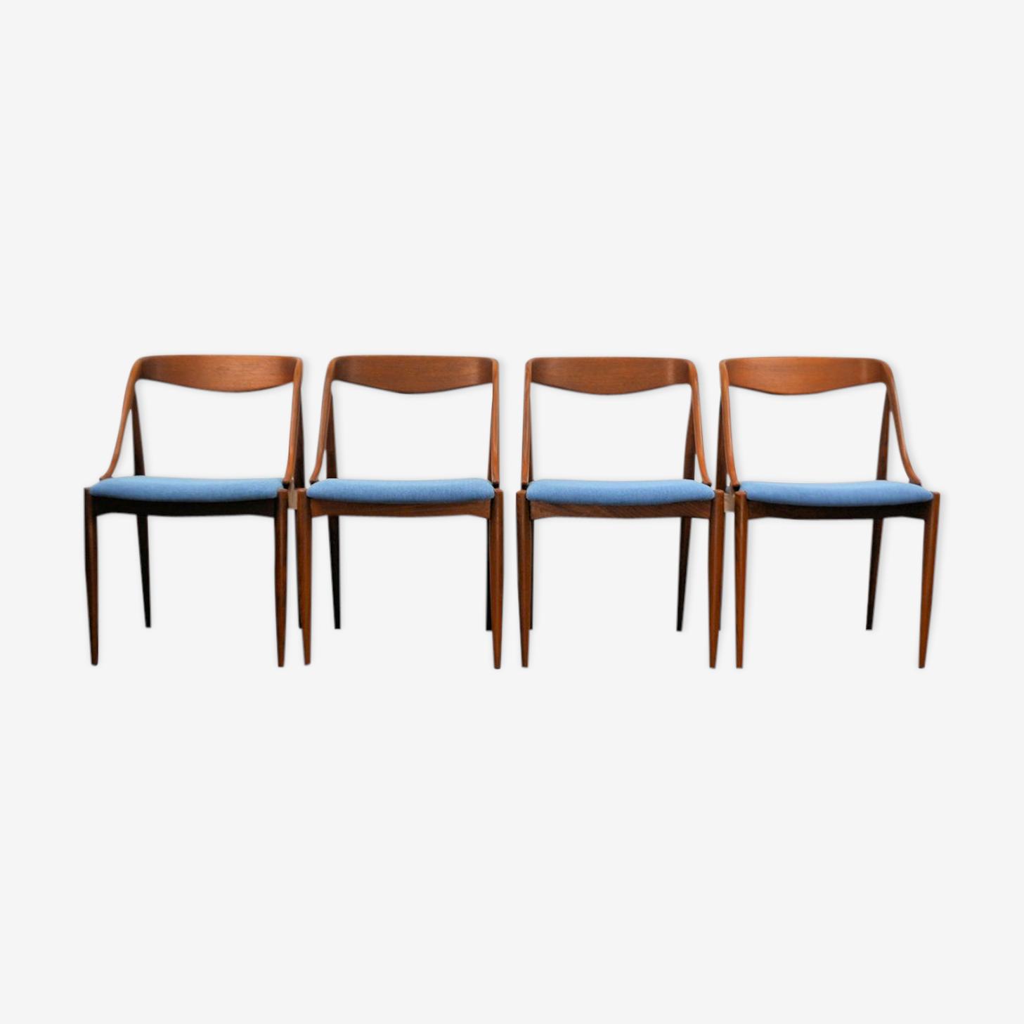 Chaises vintage teck Johannes Andersen