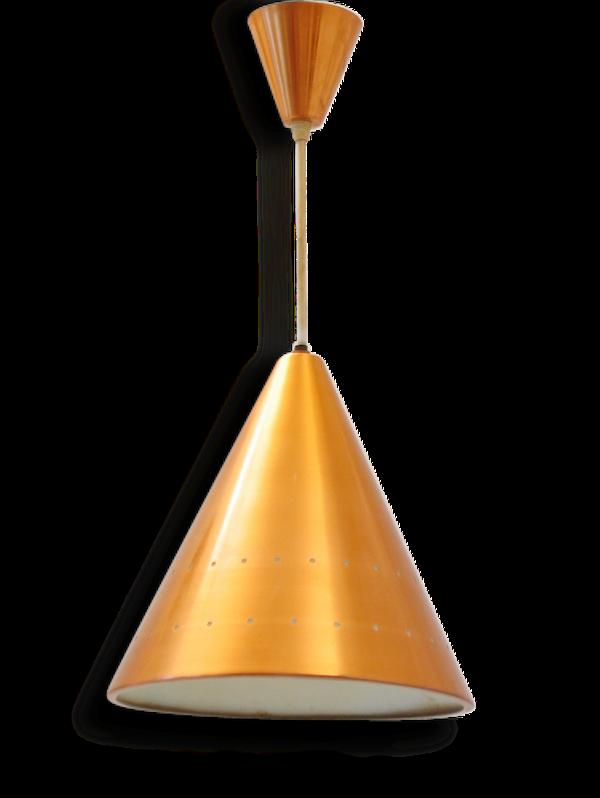 Copper Fog&Murop sixties vintage scandinavian pendant lamp