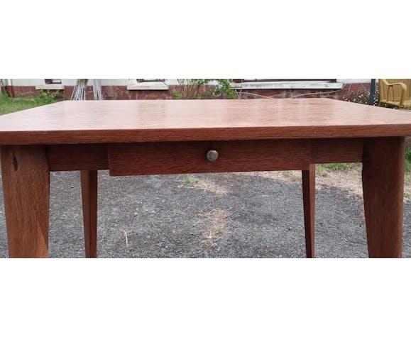 Table à tiroir pieds compas