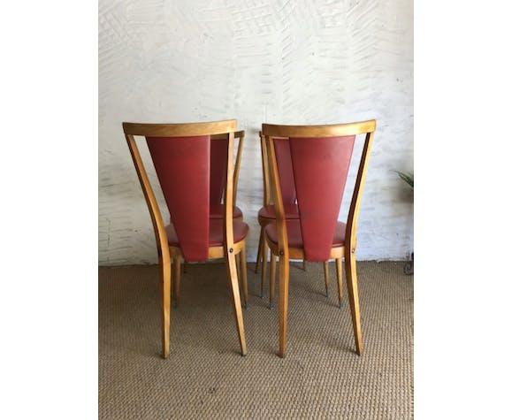 Suite de 4 chaises vintage