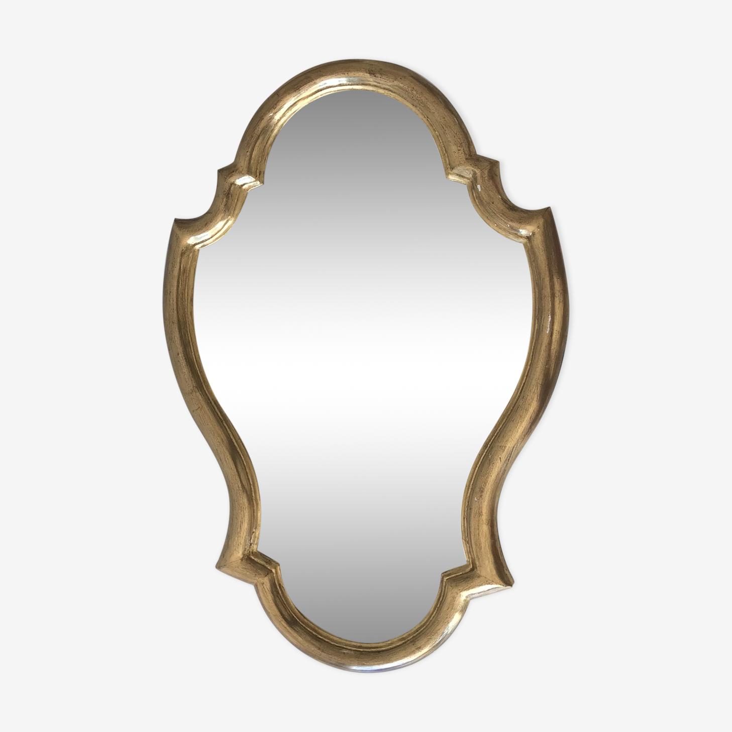 Miroir doré bois, 44x65cm