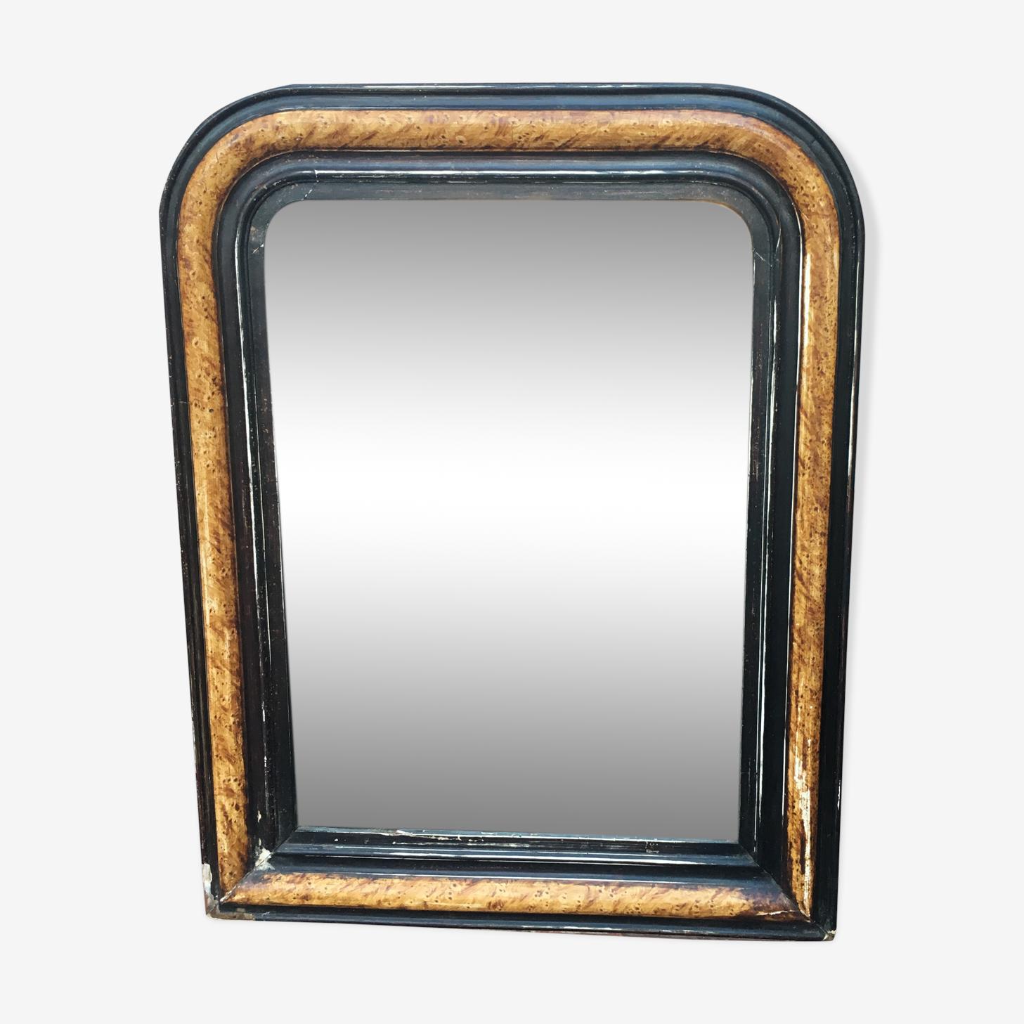 Miroir ancien Louis Philippe, 60x42cm