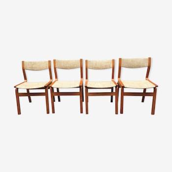 Set of 4 chairs around 1960
