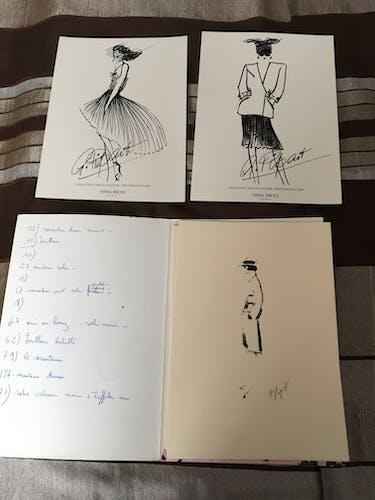 Illustration de mode Nina Ricci des années 90