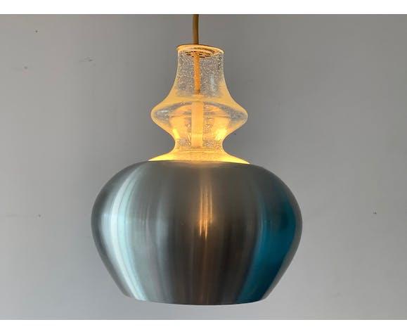 3 suspensions Raak Carthago aluminium et verre 1970