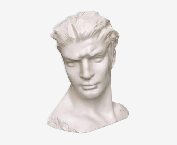 Buste plâtre homme 1950