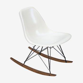 Rocking chair RAR Eames vintage Herman Miller parchemin
