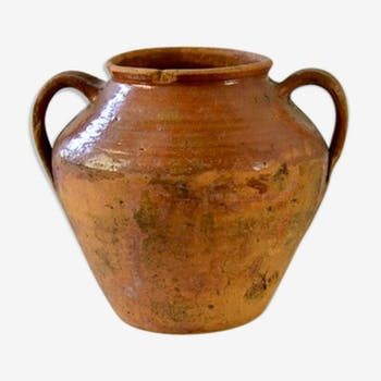 Fat pot béarnais XIX earthen glazed